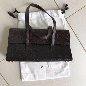 Celine Leather Logo Bag